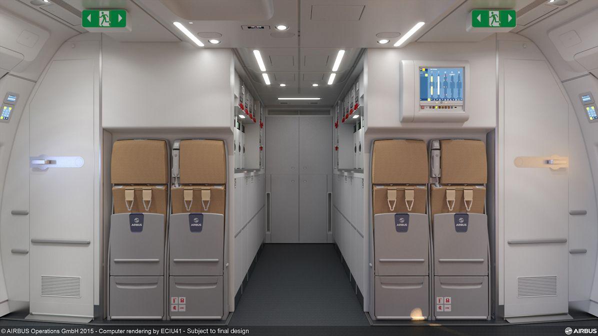 Paris Air Show 2015_Airbus and JAMCO A350 XWB rear-galley option 2