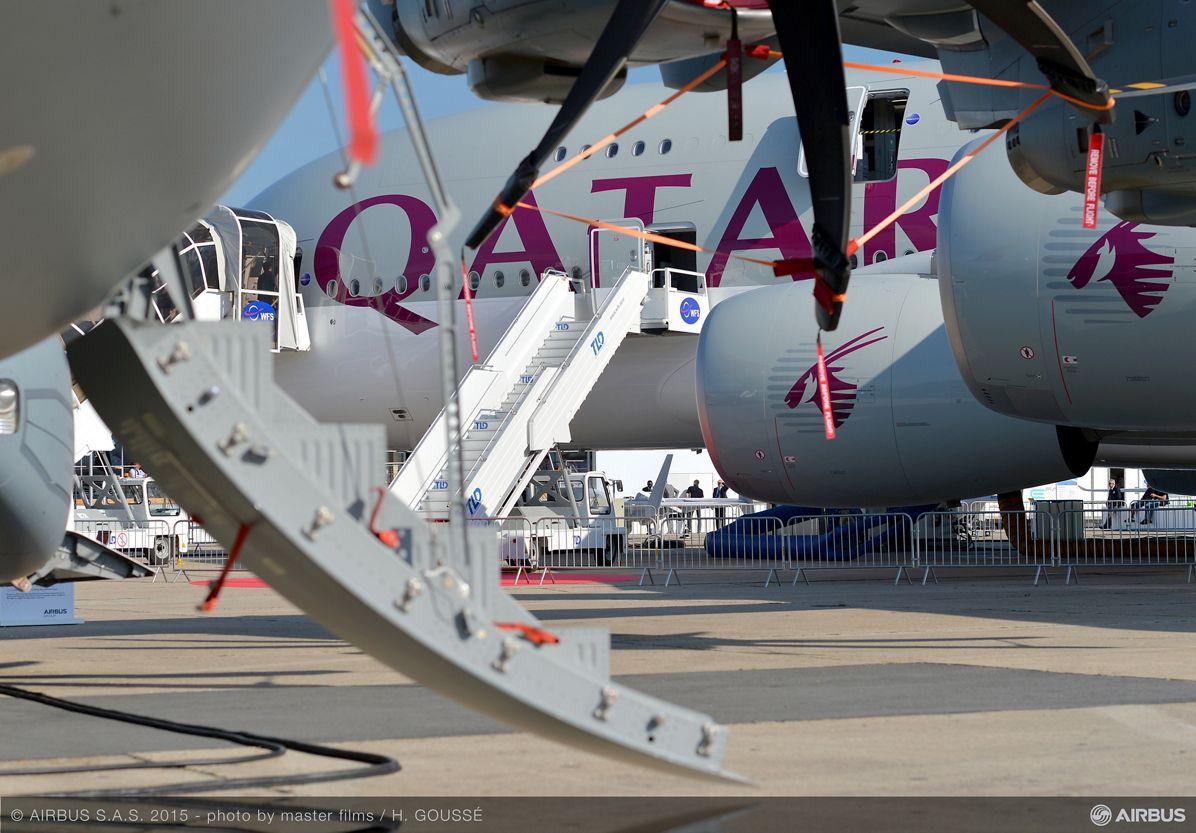 Paris Air Show 2015_Qatar A380 on static display 2
