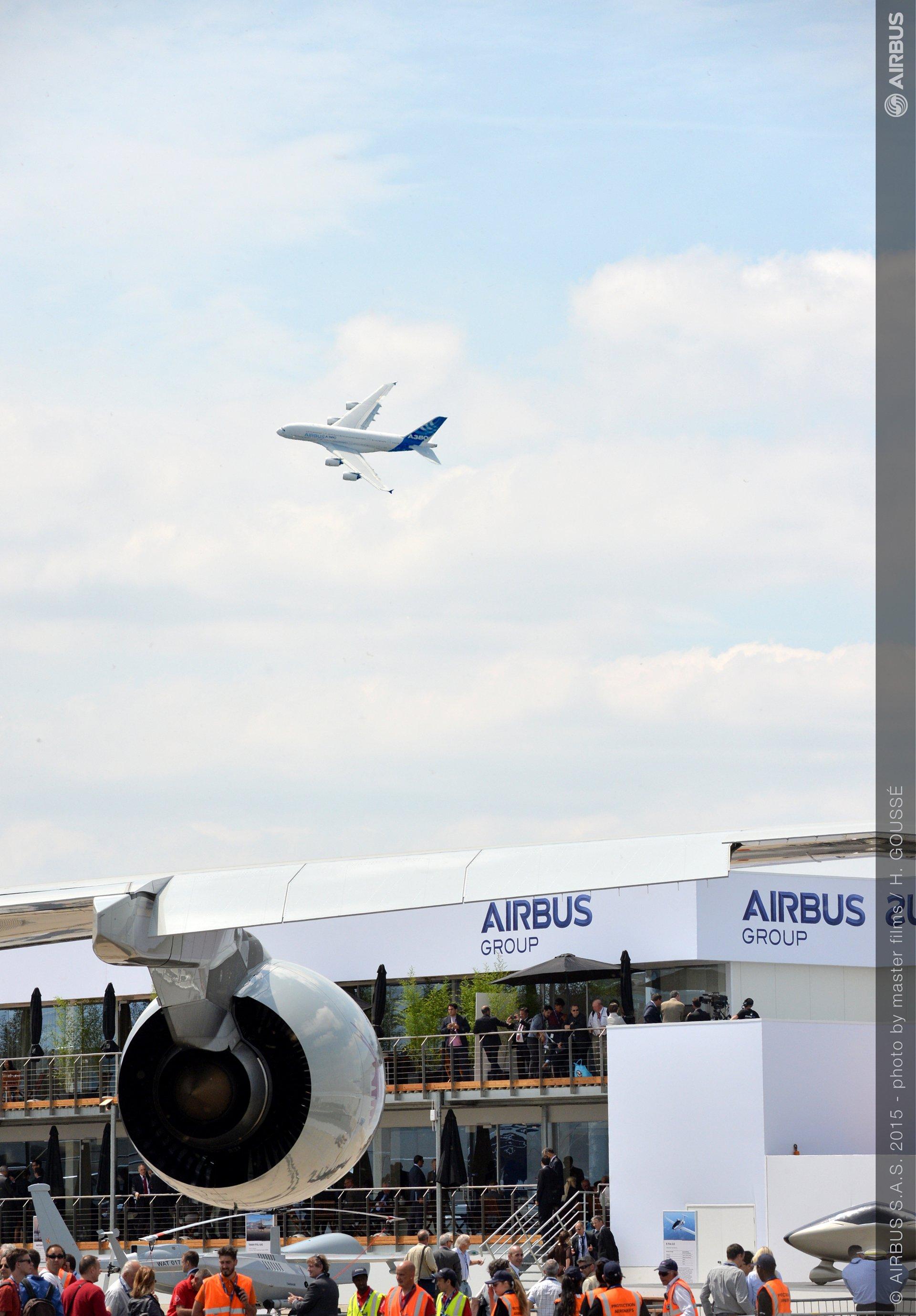 PAS 2015 day 2 demo flight A380