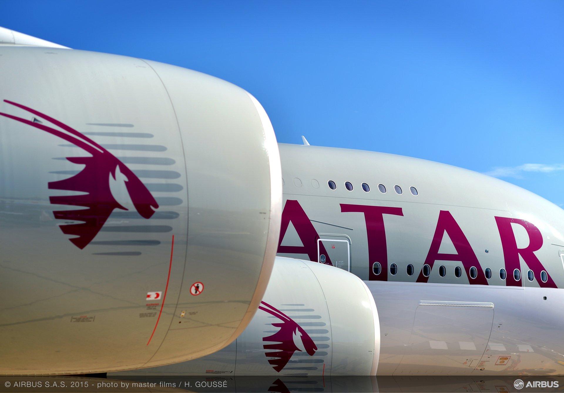 Paris Air Show 2015_Qatar A380 on static display