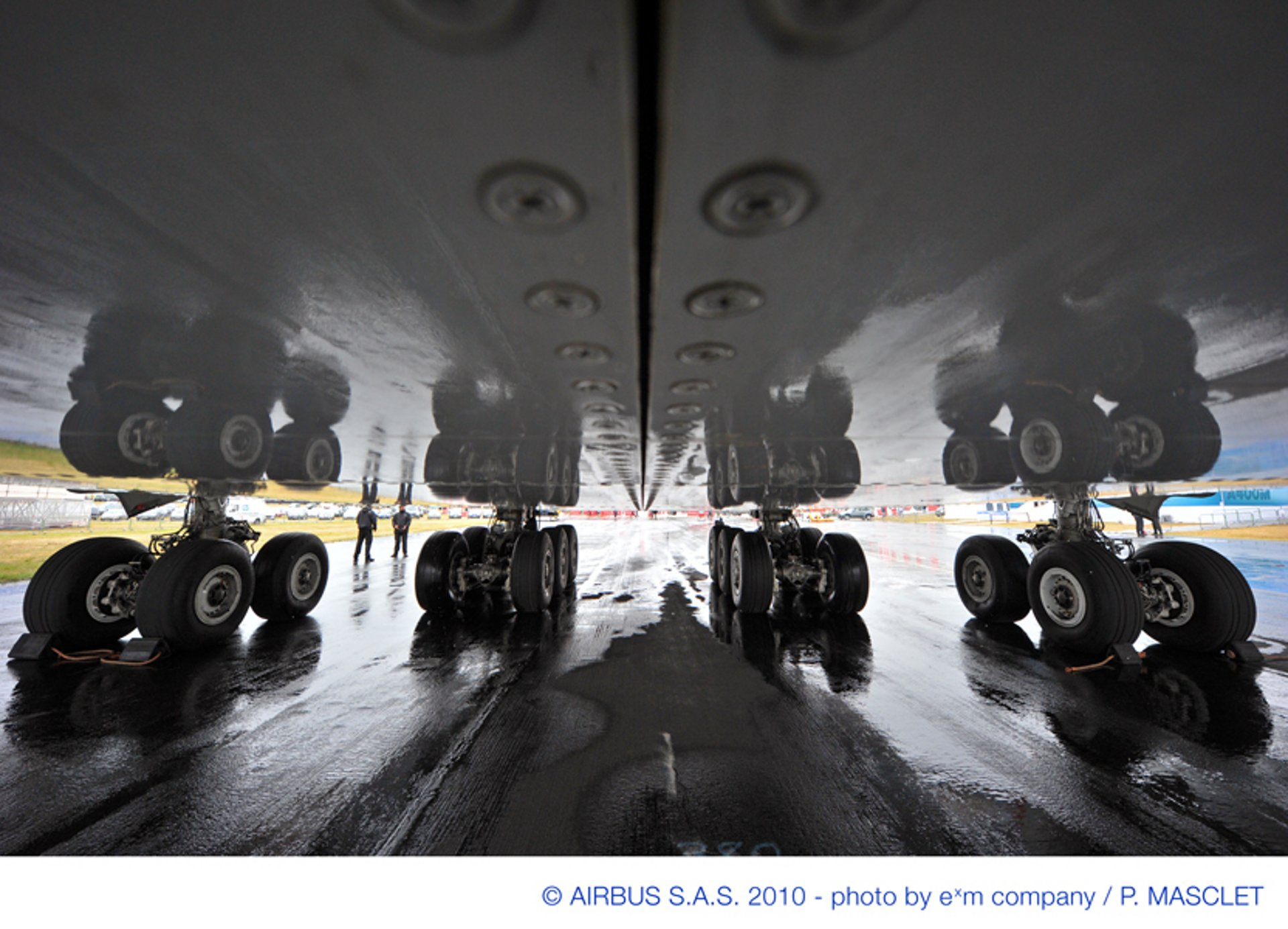 close up A380 landing gear