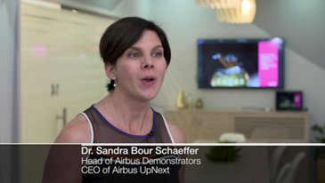 Interview of Sandra Bour Schaeffer at Dubai Airshow 2019