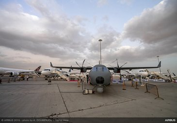 C295 on static display – Dubai Airshow 2019