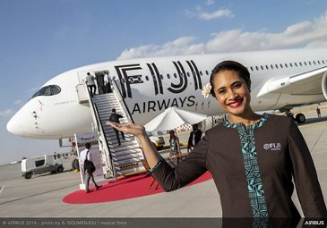 Static display of Fiji Airways A350 XWB – Dubai Airshow 2019