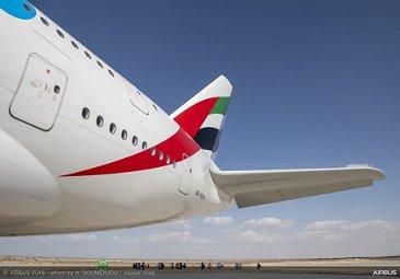 Emirates A380 on display – Dubai Airshow 2019