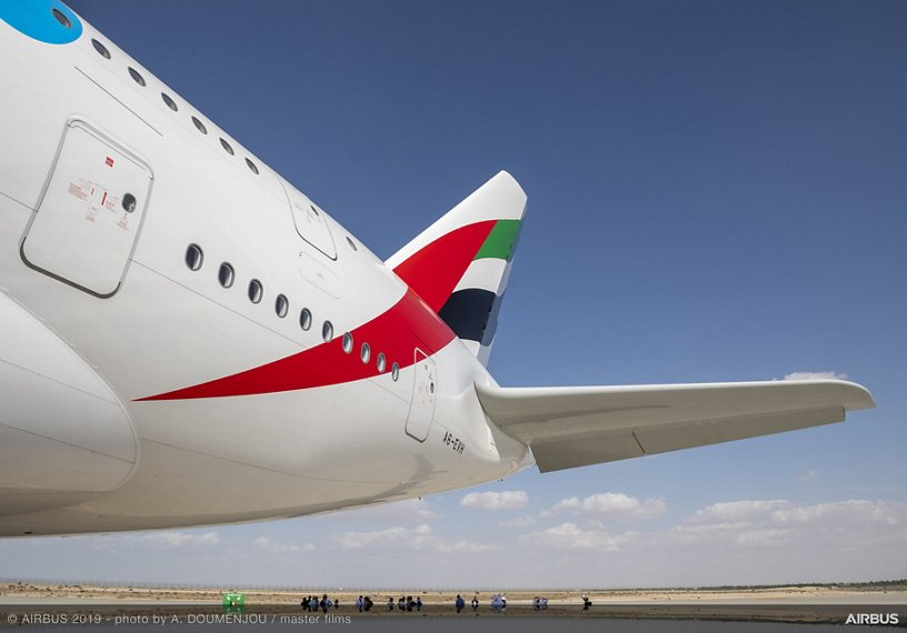 Emirates A380 on display – Dubai Airshow 2019