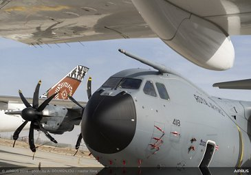 A400M on static at Dubai Airshow 2019