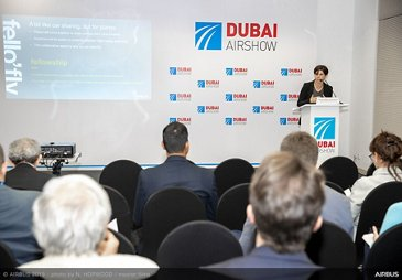 Fello Fly conference with Sandra Bour Schaeffer - Dubai Airshow 2019