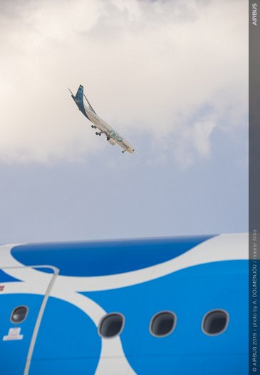 A330neo AG真人计划 flying display at Dubai Airshow 2019