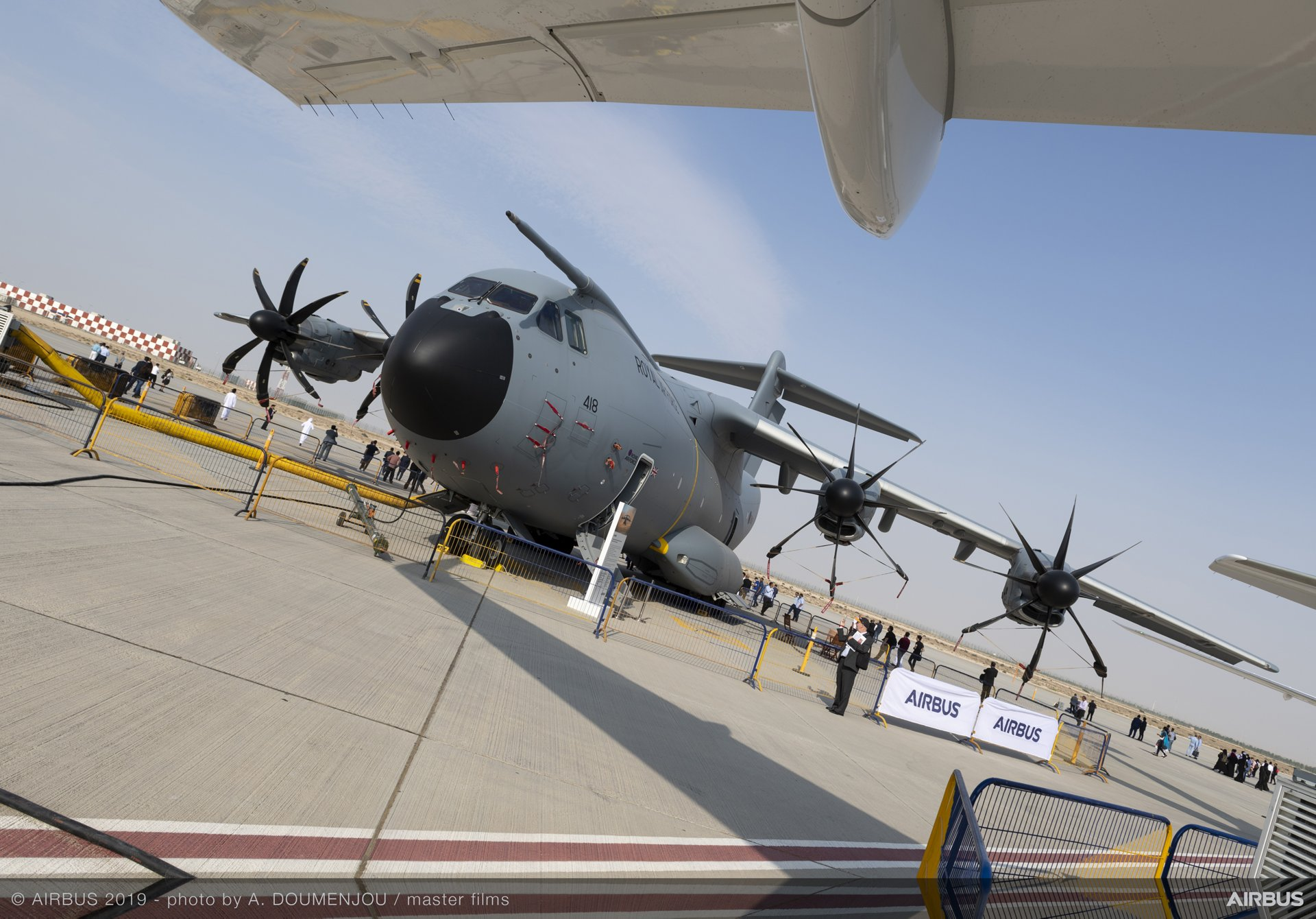 A 鈥渉eavy-lift鈥� appearance for AG真人计划鈥� A400M at the Dubai Airshow