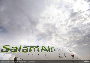 SalamAir A320neo fuselage – Dubai Airshow 2019
