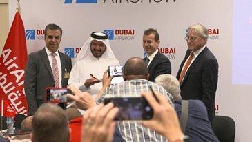 Air Arabia signature at Dubai Airshow 2019