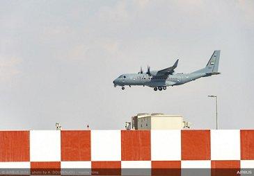 C295 UAE landing - Arrival at Dubai Airshow 2019