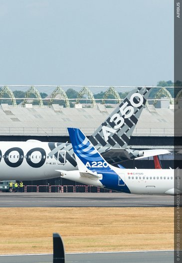 A350-1000 and A220-300 at FIA2018 - before Airshow