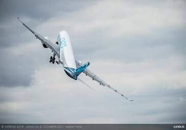 A350-1000 Flying Display - FIA2018 - Day 02