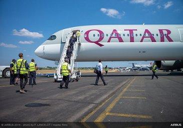 A350-1000 Qatar Airways - Arrival at FIA2018 - Day 00