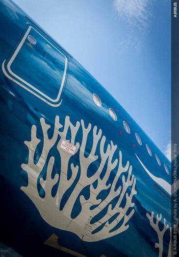 Hi Fly A380 static display 3 – Farnborough 2018