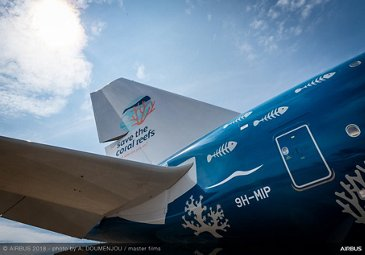 Hi Fly A380 static display 2 – Farnborough 2018