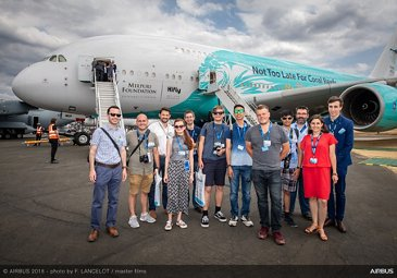 A380 Hifly Influencers Visit - FIA2018 - Day 04
