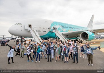 Students' day at the 2018 Farnborough Airshow