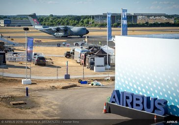 A400M - Arrival at FIA 2018 - Day 00