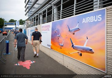 Airbus advertising – Farnborough 2018