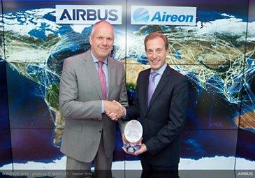 FIA 2018 Aireon Strategic Partnership Announcement Day Evert Dudok(Airbus) Don Thoma (Aireon)