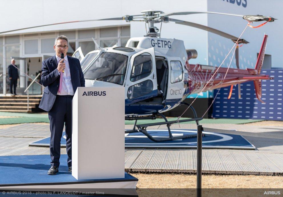 H125 helicopter Farnborough handover QinetiQ ETPS 2