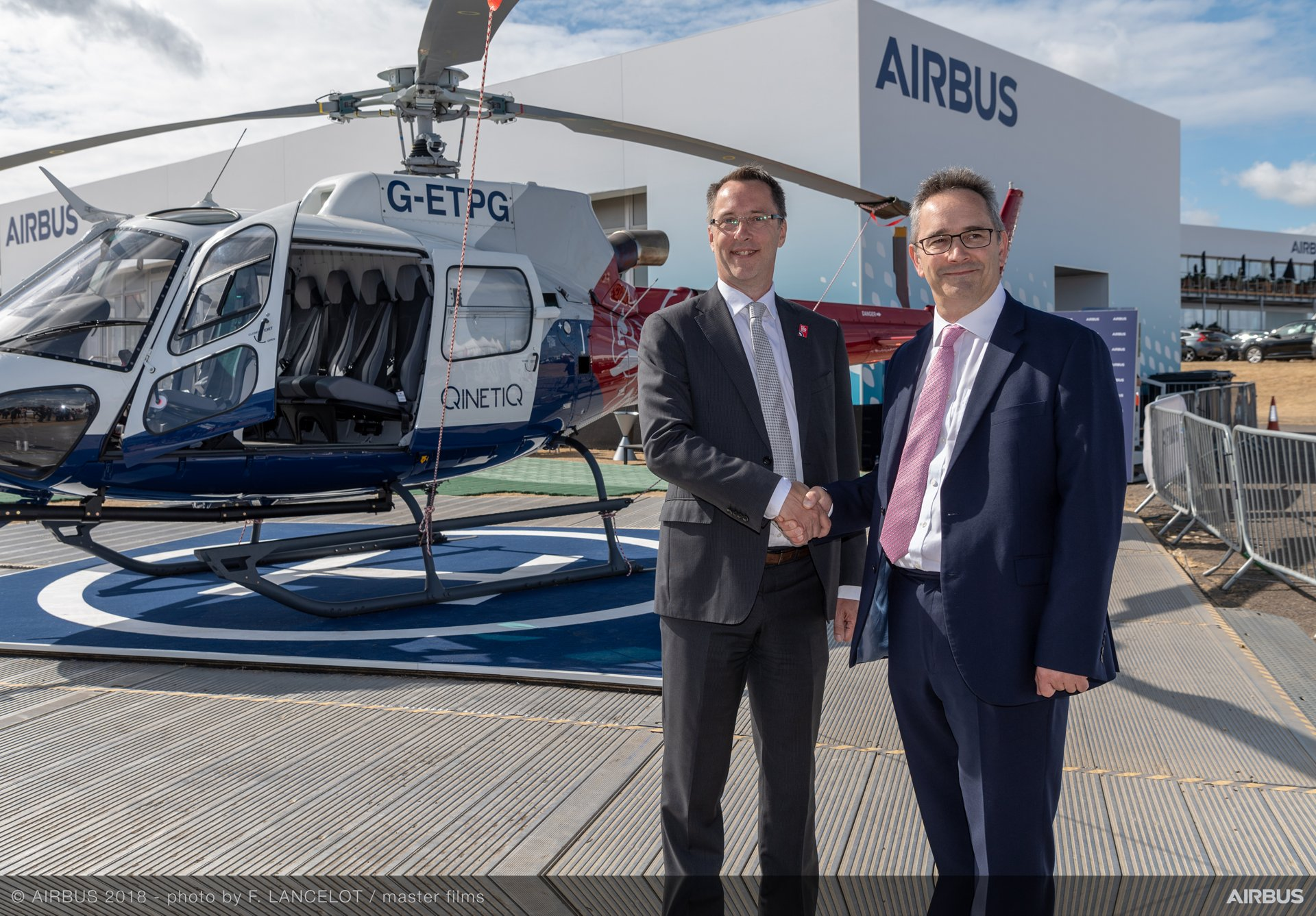 H125 helicopter Farnborough handover QinetiQ ETPS 1