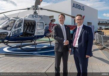 H125 helicopter Farnborough handover QinetiQ ETPS 1