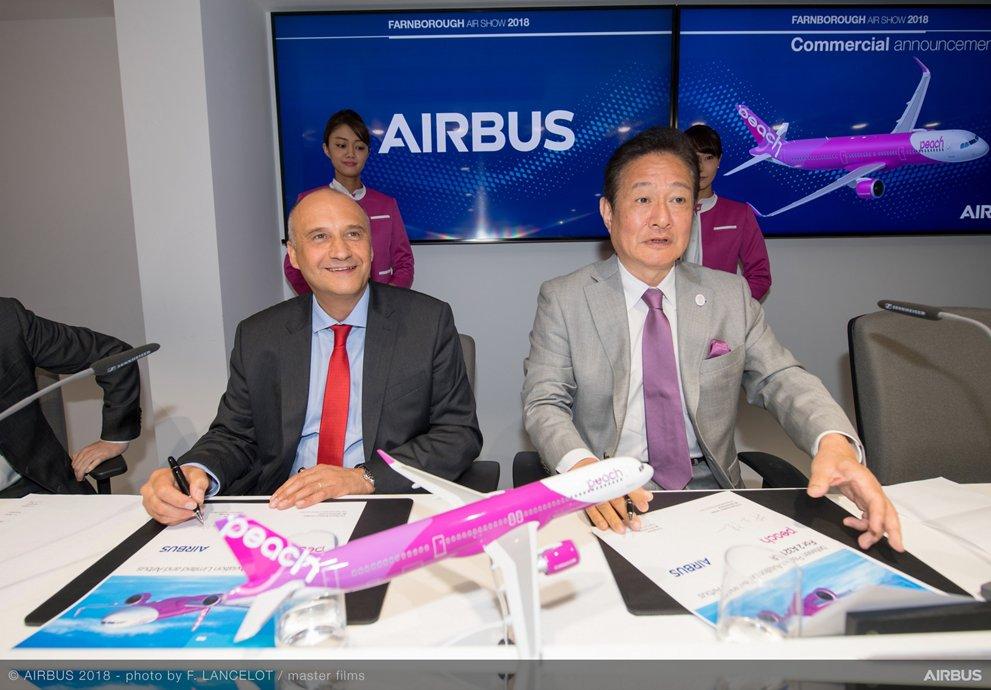 Peach Aviation A321LR announcement Farnborough 2