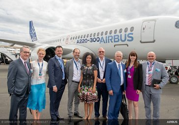 Quebec Vice President visit - Farnborough Airshow 2018 - Day 2