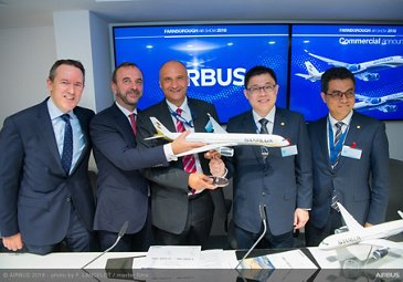 STARLUX Airlines A350 XWB MOU Farnborough 1