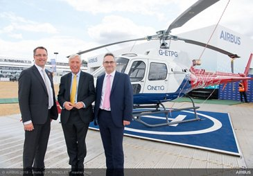 H125 helicopter Farnborough handover QinetiQ ETPS 3