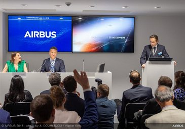 Zephyr Press conference during the 2018 Farnborough Air Show edition