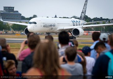 A350-1000 flying display 2 – Farnborough 2018