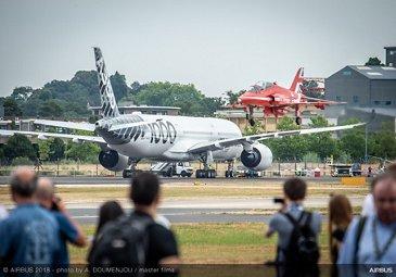 RAF-Red-Arrows-landing-Farnborough-Airshow-2018