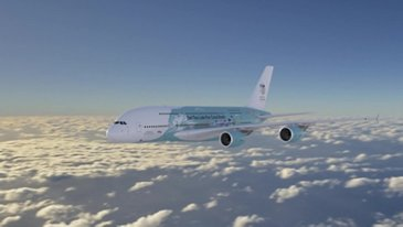 A380 HiFly - air-to-air – coral reef