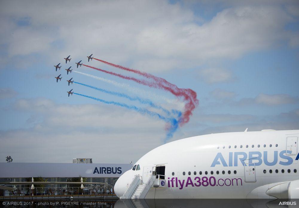 A380 French Aerobatics Flying Display - 23 June PAS 2017