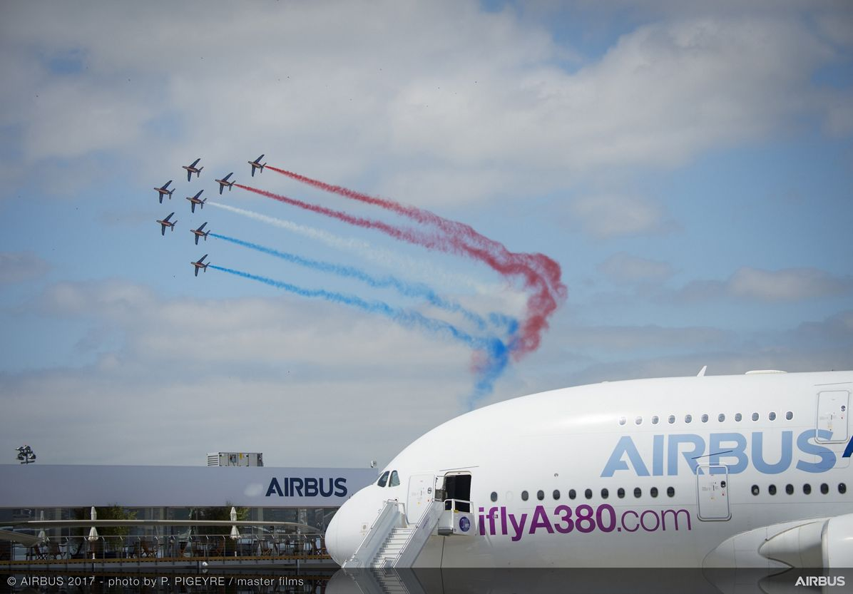A380 French Aerobatics Flying Display - 23 June PAS 2017