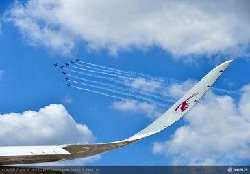 Paris Air Show 2015_ Qatar A350 XWB and PAF