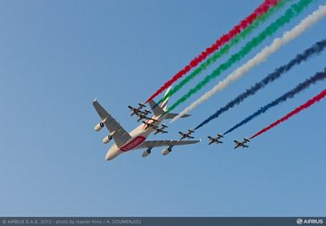flight demo day2 - 09 A380 emirates and Al Fursan