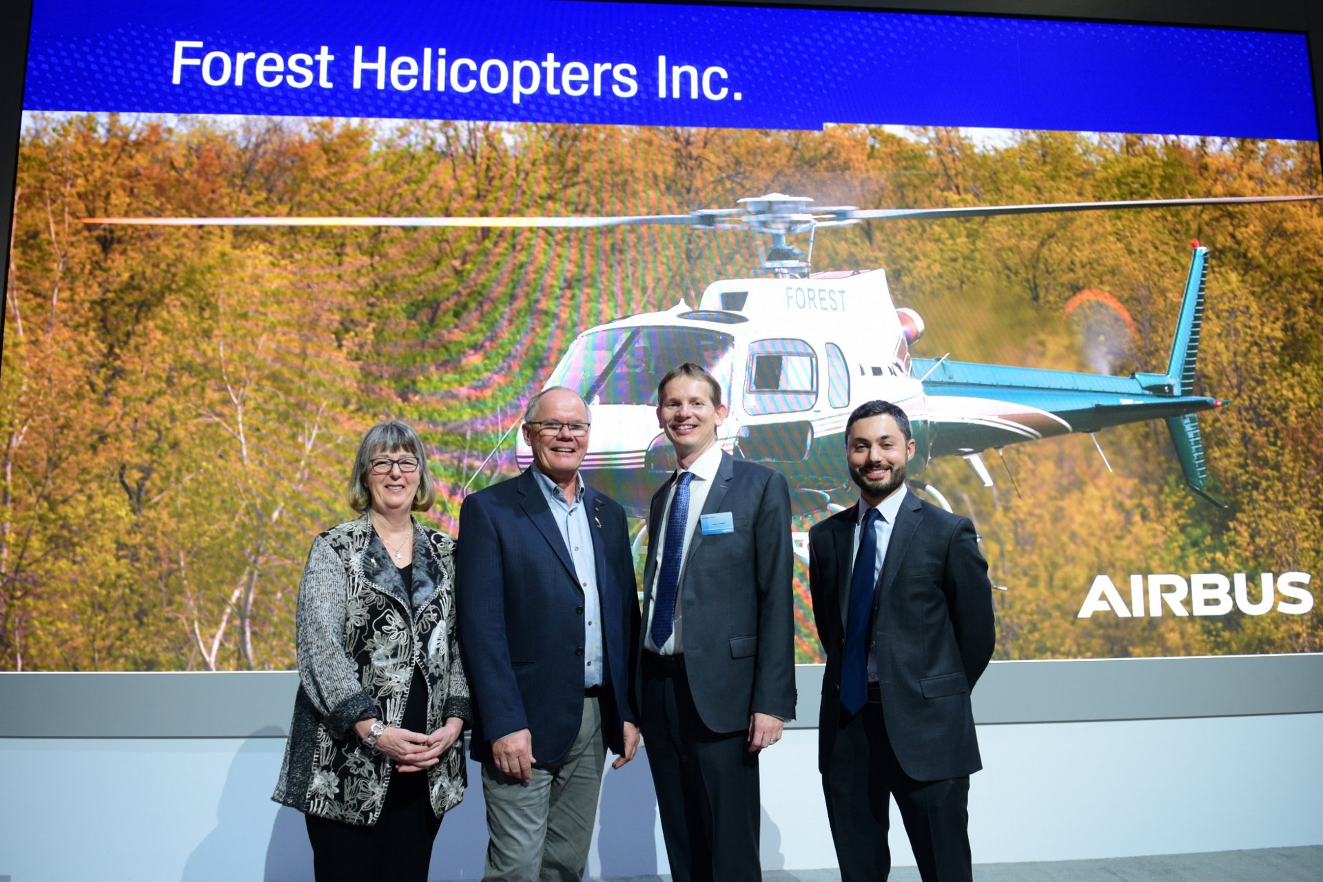 Forest Helicopters Inc. has signed an order for a light single-engine H125 helicopter from Airbus Helicopters Canada.