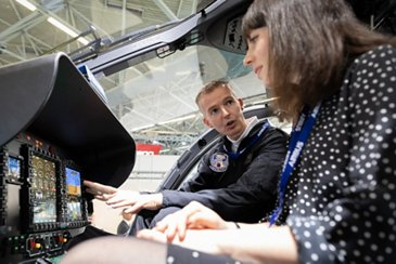 Visitors discover Helionix at Helitech International 2018.