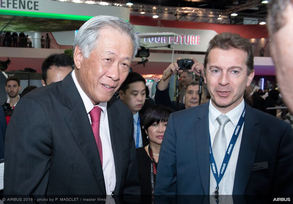 Singapore Airshow 2018 Day 1 - official visit at Airbus stand 2