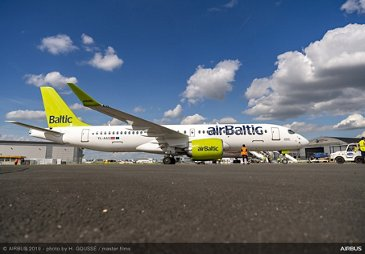 A220-300 airBaltic at Paris Airshow 2019 - PAS2019 Day 0