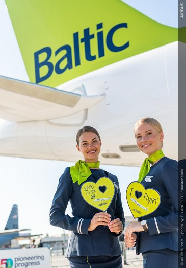 airBaltic cabin crew – Paris Air Show 2019 – Day 1