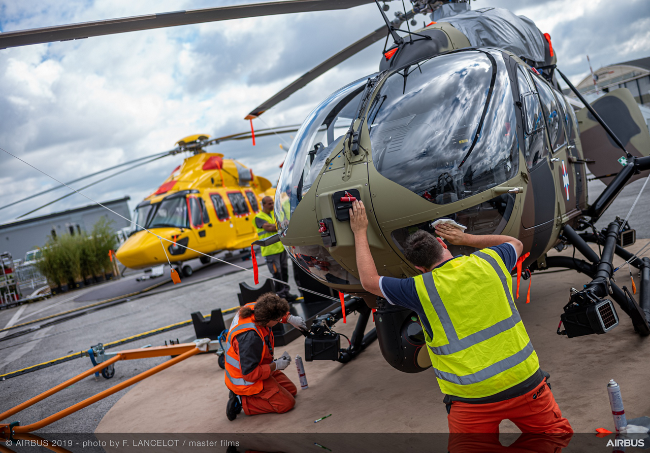 Aircraft on static at Paris Airshow 2019 , Le Bourget.