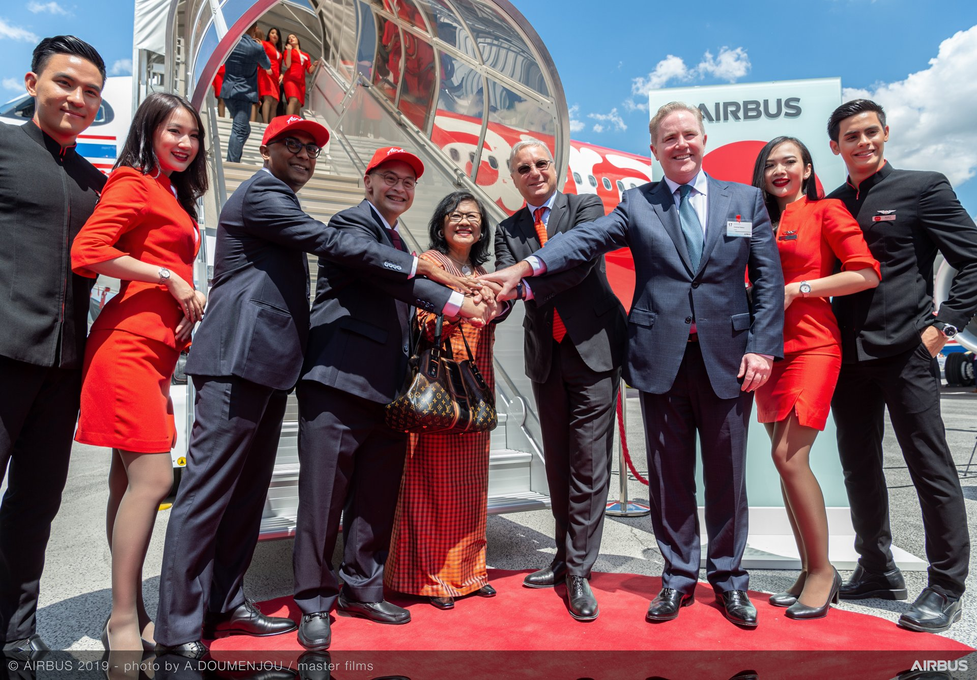 A330-900 Thai AirAsia X MSN1901 cabin Unveiling at Paris Airshow 2019
