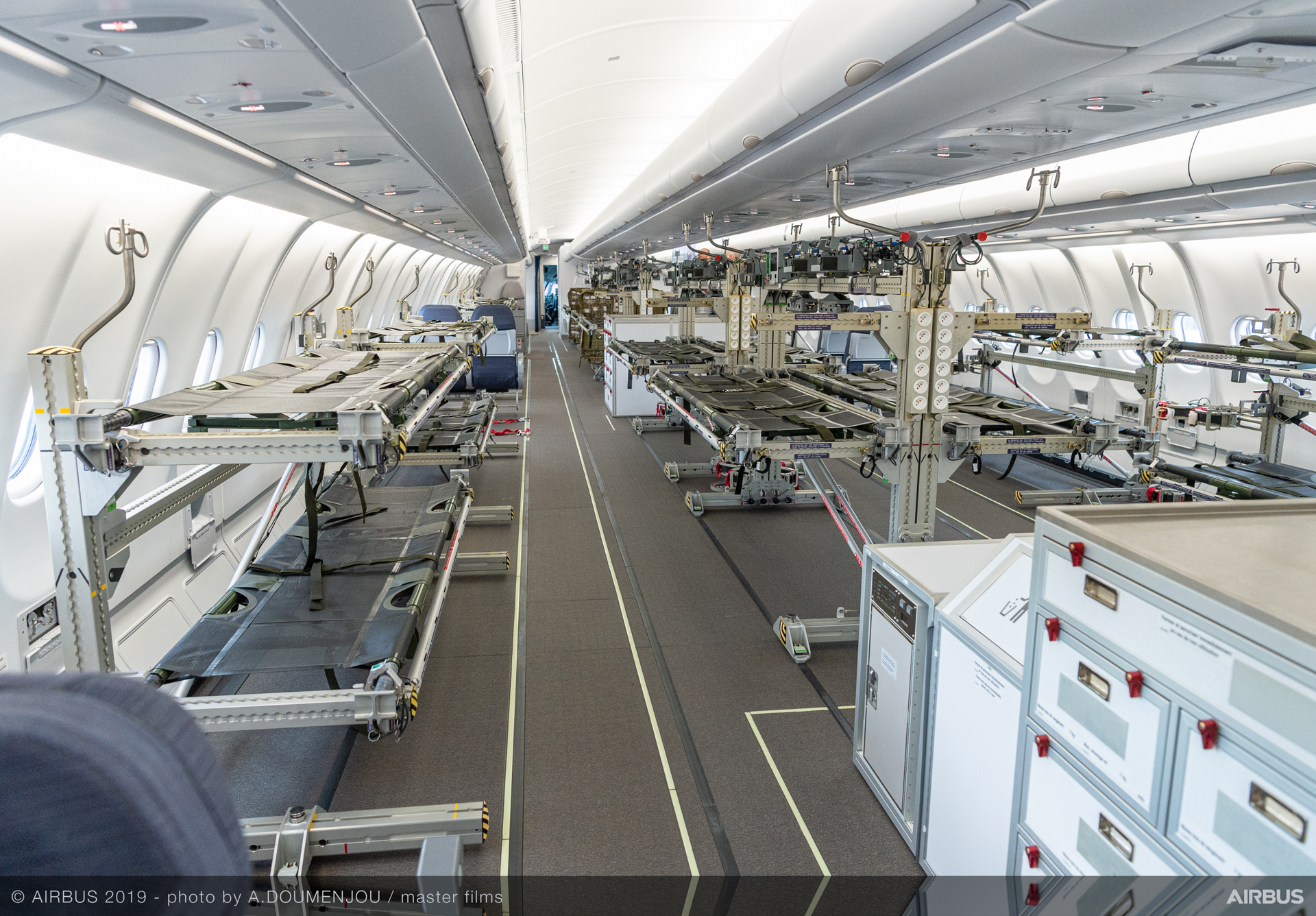 A330 MRTT Airbus cabin static display at Paris Airshow 2019 - Day 3